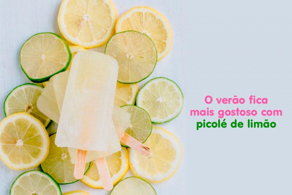 sorvete de limão saudavel